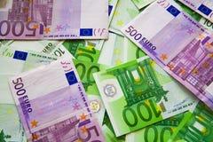 Euro- notas de banco Imagens de Stock