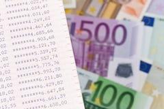Euro- notas de banco imagem de stock royalty free