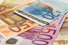Euro- notas de banco Foto de Stock