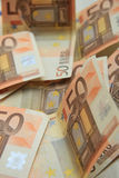 50 euro- notas de banco Fotos de Stock