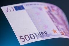 500 euro- notas de banco Foto de Stock
