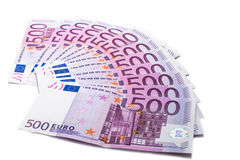 500 euro- notas de banco Imagens de Stock
