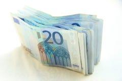 20 euro- notas de banco Foto de Stock