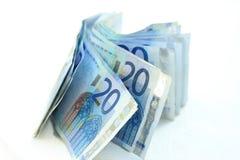 20 euro- notas de banco Imagem de Stock
