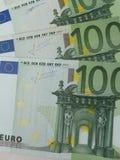 100 euro- notas de banco Foto de Stock Royalty Free