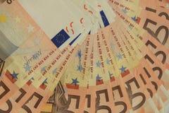 50 euro- notas de banco Foto de Stock