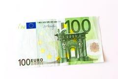 100 euro- notas de banco Imagem de Stock