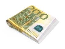 200 euro- notas de banco ilustração stock