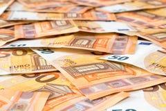 50 euro- notas de banco Fotografia de Stock