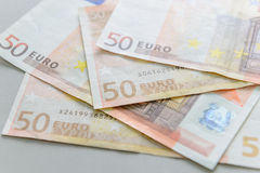 50 euro- notas de banco Imagem de Stock