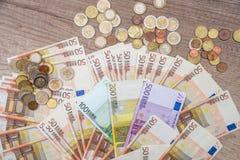 Euro- notas de banco como o fundo Fotografia de Stock Royalty Free