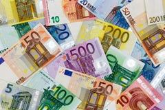 Euro- notas de banco diferentes Imagem de Stock Royalty Free