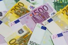 Euro- notas de banco diferentes Fotos de Stock Royalty Free