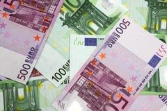 Euro- notas de banco do dinheiro Imagens de Stock Royalty Free
