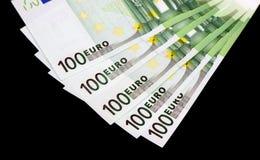 Euro- notas de banco do dinheiro Fotos de Stock