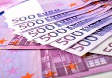 500 euro- notas de banco do dinheiro Imagens de Stock