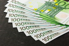 Euro- notas de banco estocadas Imagem de Stock Royalty Free