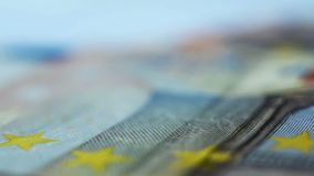 Euro- notas de Ffifty video estoque