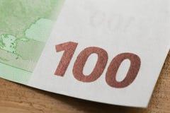100 euro notatek - wizerunek zdjęcie royalty free