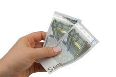 euro notatki Obrazy Royalty Free