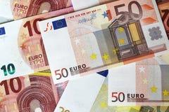Euro note che formano fondo Fotografia Stock Libera da Diritti