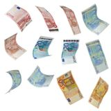 Euro note collection Royalty Free Stock Photo