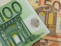 Euro note con la riflessione Immagine Stock