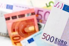 Euro note con la riflessione Fotografie Stock