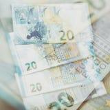Euro note di carta Venti euro Fotografia Stock Libera da Diritti