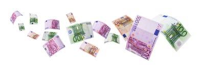 Euro note - percorso di residuo della potatura meccanica Fotografie Stock