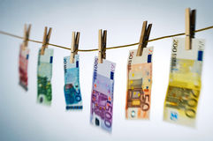 Euro Note Washing Royalty Free Stock Image