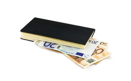 The euro and notebook Royalty Free Stock Photography
