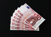 Euro notes. Euro notes used in most of Europe Royalty Free Stock Photos