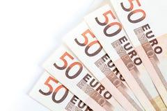 Euro notes Stock Photos