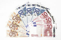 Euro Notes Stock Image