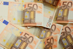 50 euro notes Photographie stock