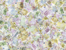 Euro notes on the background. Royalty Free Stock Images