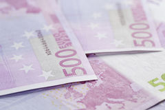 500 euro notes background closeup photo Royalty Free Stock Images