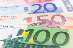 Euro notes background texture Stock Image