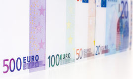 Euro notes background Royalty Free Stock Photography