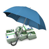Euro Notes Umbrella Royalty Free Stock Images