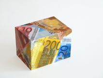 Euro notes - box Royalty Free Stock Image