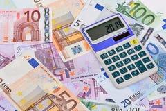 Euro Notes and Calculator Stock Photos
