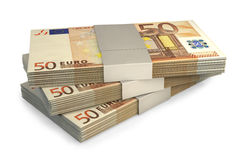 Euro notes d'argent Photo stock