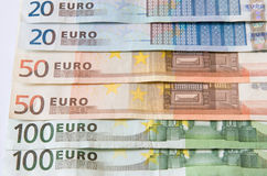 Euro notes d'argent Photos stock