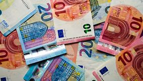 Euro notes de bourse des valeurs de billets de banque image stock