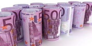500 Euro Notes. 500 Euro Note Rolls - 3d illustration vector illustration