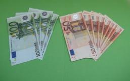 Euro notes, European Union Royalty Free Stock Photo