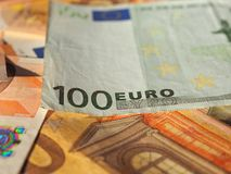 Euro notes, European Union. Fifty and One Hundred Euro banknotes money (EUR), currency of European Union Stock Image