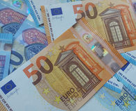 50 and 20 euro notes, European Union stock images